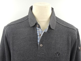 Pull col polo anthracite