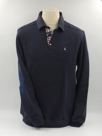 Pull polo coudière marine