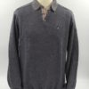 Pull col polo taupe foncé