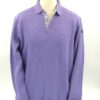 Pull col polo violet