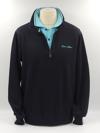 Camionneur col polo turquoise